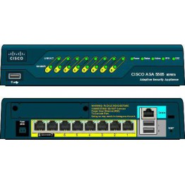 ASA5505-BUN-K9ASA 5505 Appliance with SW/10 Users/8 ports/3DES/AES